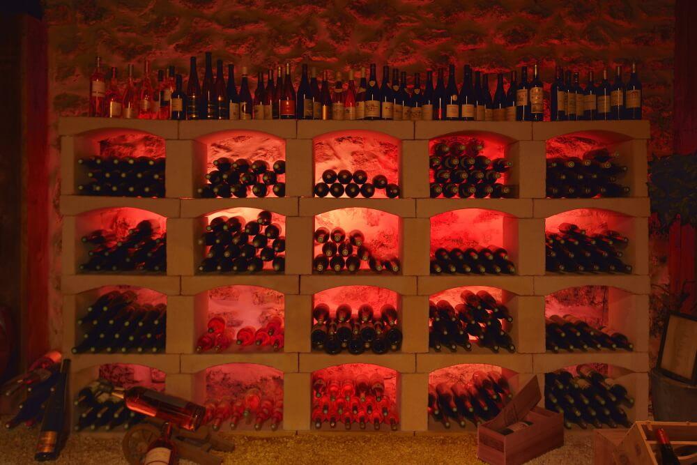 Cave à champagne, cave à vin Vert et Or